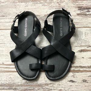Franco Sarto Black Leather strappy sandal